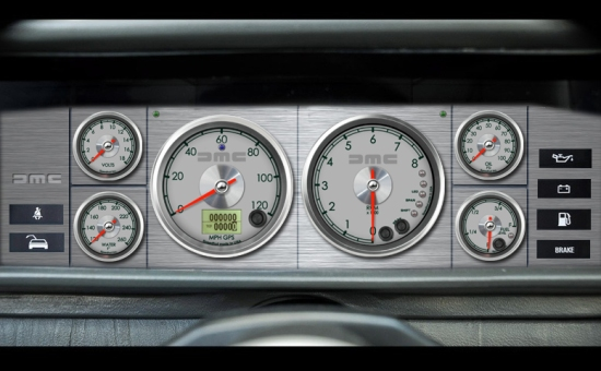 Dash concept for my DeLorean